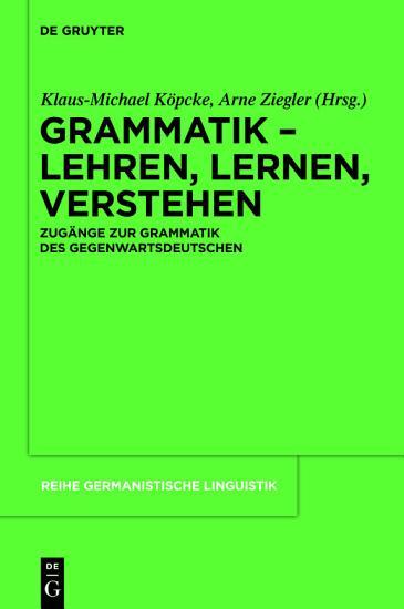 Grammatik     Lehren  Lernen  Verstehen PDF
