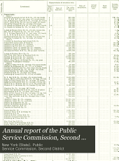 Annual Report of the Public Service Commission, Second District: Volume 2