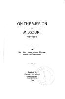 On the Mission in Missouri  1857 1868 PDF