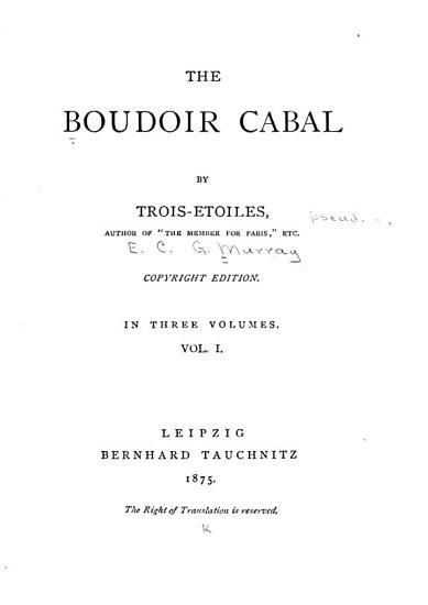 The Boudoir Cabal PDF
