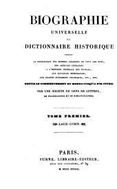 Biographie universelle ou Dictionnaire historique, par une société de gens de lettres [&c.].