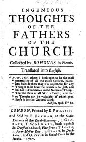Ingenious Thoughts of the Fathers of the Church ... Translated into English