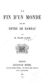 La Fin d'un monde et du neveu de Rameau