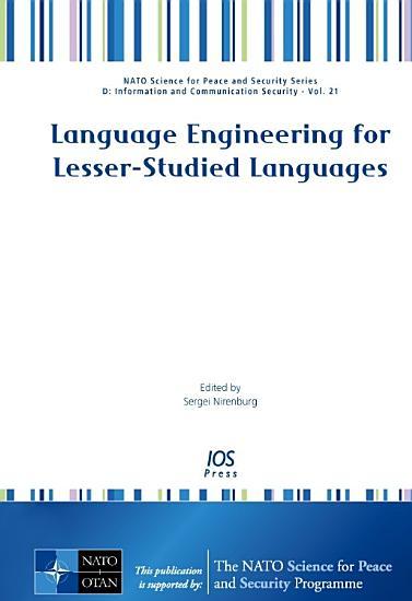 Language Engineering for Lesser studied Languages PDF