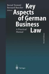 Key Aspects Of German Business Law Book PDF