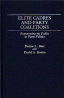 Elite Cadres and Party Coalitions PDF