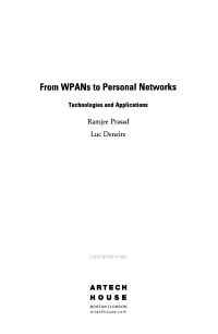 From WPANs to Personal Networks PDF