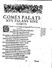 Comes Palatinus Palans Sine Comite