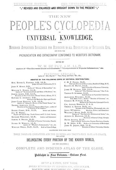 The New People s Cyclopedia of Universal Knowledge PDF