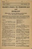 Hasid s Index to Periodicals and Booklist PDF