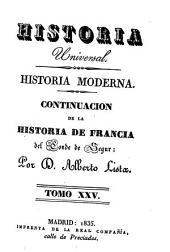 Historia moderna: Continuacion de la histroia de Francia, Volumen 25