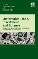 Sustainable Trade  Investment and Finance PDF