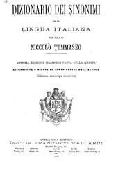 Dizionario dei sinonimi della lingua italiana