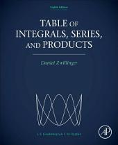 Table of Integrals, Series, and Products: Edition 8