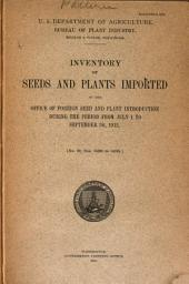 Inventory of seeds and plants imported: Issue 32