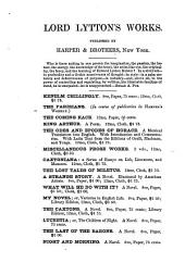 Kenelm Chillingly: His Adventures and Opinions, Volumes 1-2