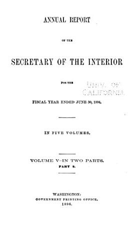 Annual Reports of the Department of the Interior      with Accompanying Documents  PDF