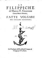 Le Filippiche di Marco T. Cicerone contra Marco Antonio
