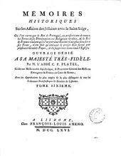 Mémoires historiques présentés en 1744 au souverain pontife Benoît xiv