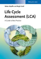 Life Cycle Assessment  LCA  PDF