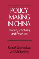 Policy Making in China PDF