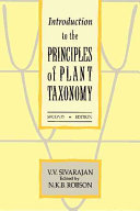 Introduction to the Principles of Plant Taxonomy PDF