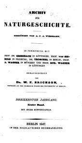 Archiv für Naturgeschichte: Band 13