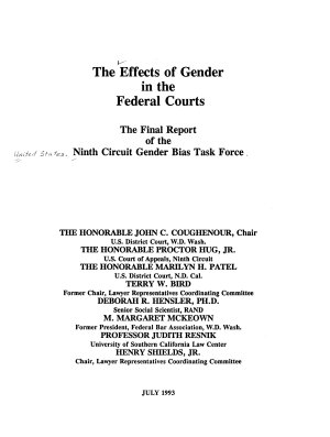 The Effects of Gender in the Federal Courts PDF
