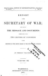 Annual Reports of the War Department: Volume 3