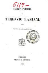 Scritti politici di Terenzio Mamiani