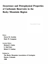 Occurrence and Petrophysical Properties of Carbonate Reservoirs in the Rocky Mountain Region