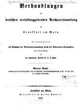 Verhandlungen der Deutschen verfassunggebenden reichsversammlung zu Franfkurt am Main: Bände 4-6