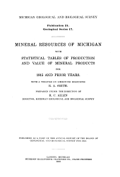 Publication - Michigan Geological and Biological Survey