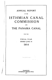 Annual Report of the Isthmian Canal Commission