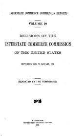 Interstate Commerce Commission Reports: Reports and Decisions of the Interstate Commerce Commission of the United States, Volume 59