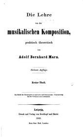 Die Lehre von der musikalischen Komposition, praktisch theoretisch: Band 3