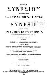 Patrologiae cursus completus: seu bibliotheca universalis ... omnium S. S. patrum, doctorum scriptorumque ecclesiasticorum ... ab aevo apostolico ... ad Photii tempora (ann. 863) ... Series Graeca, Volume 66