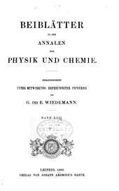 Annalen der Physik: Beiblätter, Band 13