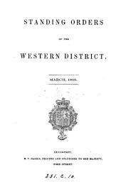 Standing orders of the Western district [of the Army].