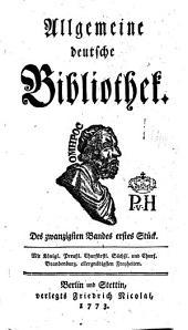Allgemeine deutsche Bibliothek: Band 20