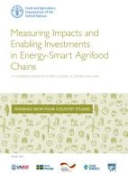 Measuring Impacts and Enabling Investments in Energy Smart Agrifood Chains PDF