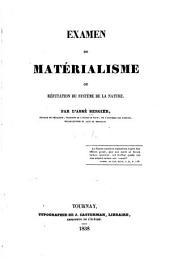 Examen du matèrialisme, ou, Rèfutation du Système de la nature: Volume1