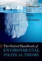 The Oxford Handbook of Environmental Political Theory PDF