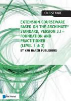 Extension courseware based on the Archimate Standard  Version 3 1 Standard by Van Haren Publishing PDF