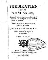 Predikatien op de zondagen: beginnende met den derden zondag na HH. Driekoningen, en eindigende op den eersten zondag voor den vasten, Volume 8