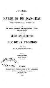 Journal du marquis de Dageneau: 1704-1705