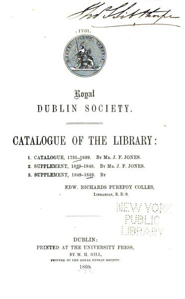 Download Catalogue of the Library Book