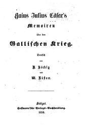 Memoiren über den gallischen Krieg