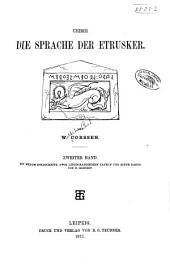 Ueber die Sprache der Etrusker: Band 2