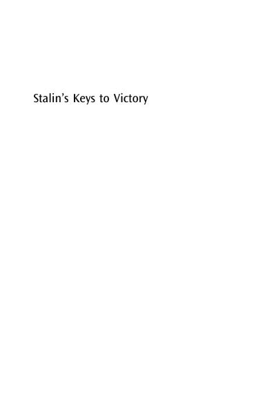Download Stalin s Keys to Victory Book